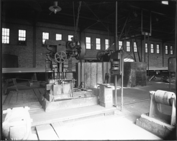 Rail Mill. View of Raised Platform Around Drill Press Shield About Gaggers' Positions and Locations