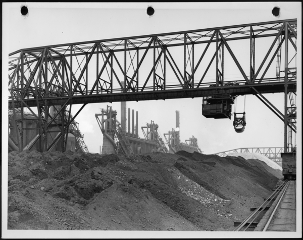 Photograph, Ore Storage Yard, USS Gary Works