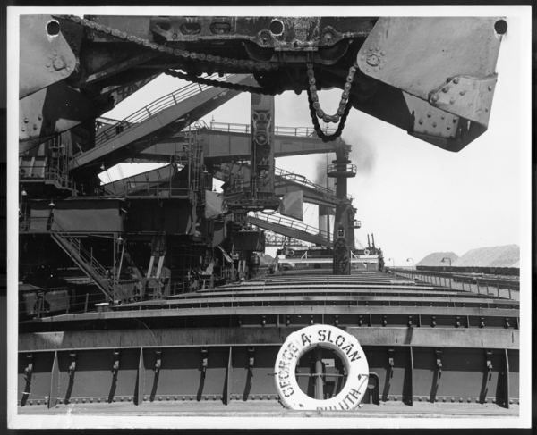 Photographs, Unloading Iron Ore, USS Gary Works