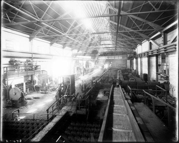 Merchant Mill. General View of Interior #1-12, Merchant Mill Looking East