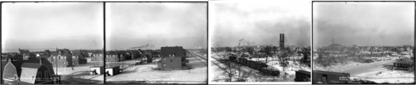 Looking N-NW-NE from 8th Ave. and Jackson St., Gary Panorama, Plates #1-4