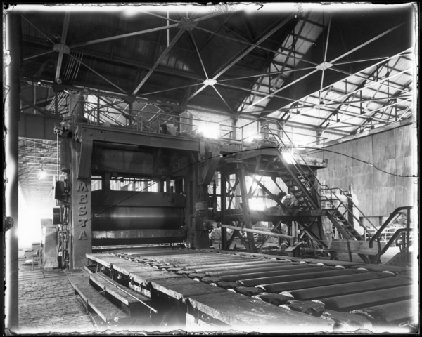 "160"" Plate Mill, Looking N.W. at Rolls"