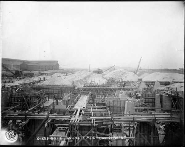 """Looking West at Foundation 40"""" Blooming Mill"""