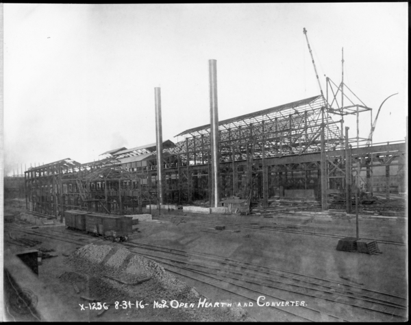 Looking N.E. at #2 O.H. steel Construction