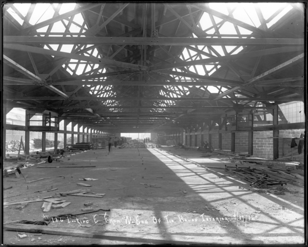 Looking E. from W. End of Tin House Interior