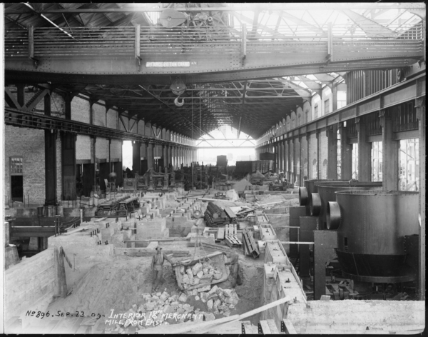 "Interior 18"" Merchant Mill From East"