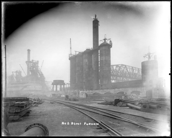 Looking East toward #2 and #1 Blast Furnaces