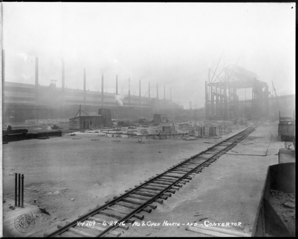 Looking N.W. at #2 O.H. and Conveyer