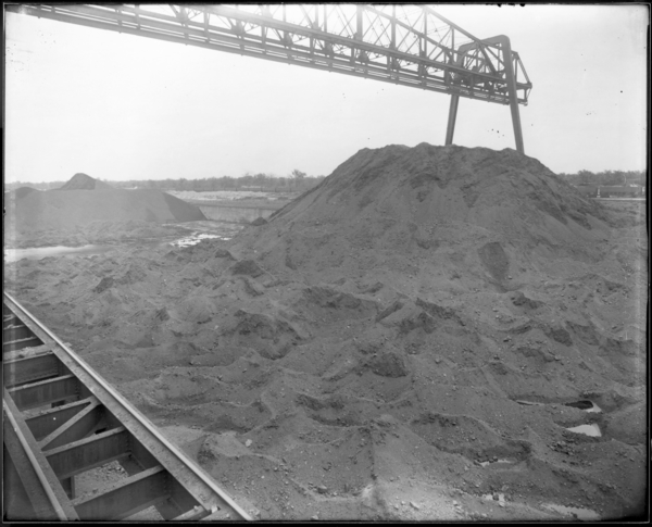 Looking S.E. at Pocahontas Coal Pile, Coke Plant