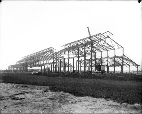 Machine Shop and Boiler Repair Shop from S.E. Corner--Steel Work Erected
