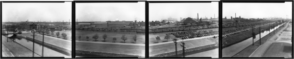 Panorama View of Plant from Hospital, 4 plates
