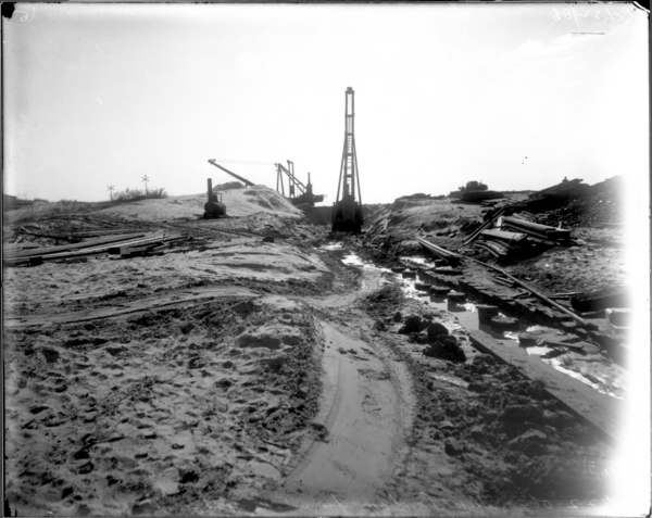 Excavating Slip, Looking South from Lake End