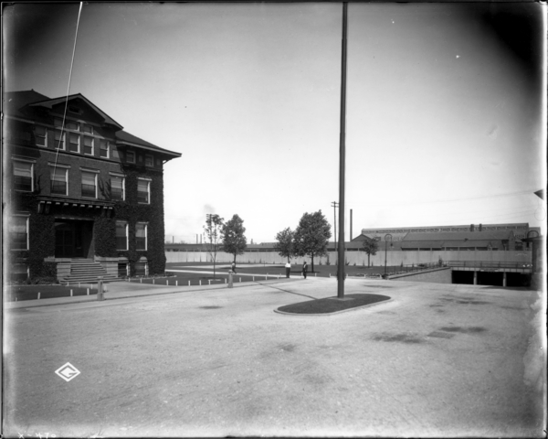 Broadway Gate, View Looking N.W. Toward Gen. Office Building and Tennis Court and Subway
