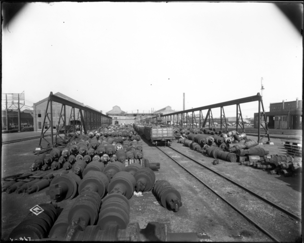 Roll Shop. Gen. View Looking East at Roll Yard