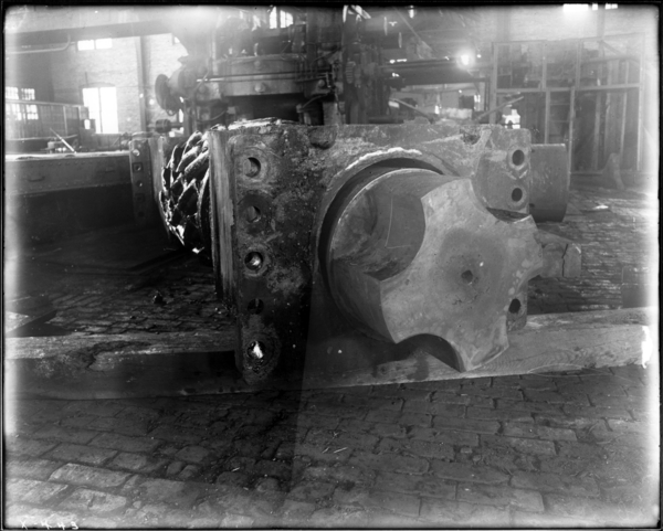 Plate Mill. View Looking East Toward End of Bottom Penion and Bearing