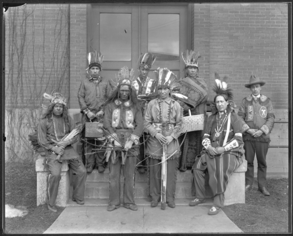 Indians Visiting Plant