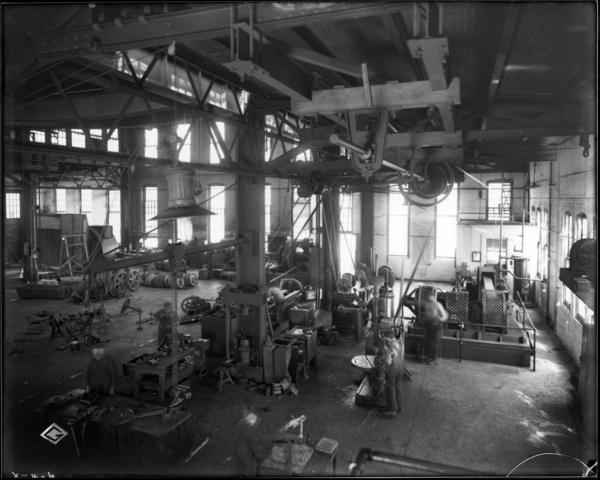 Locomotive Repair Shop. View Looking N.E. at Machines