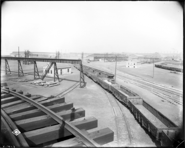 View from Axle Mill Coal Trestle Looking N.E. showing General View of Yard