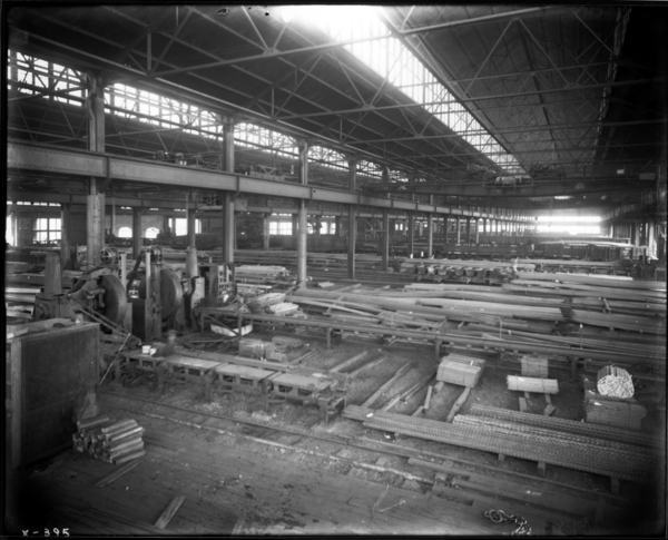 Merchant Mill View of Car in N.W. Corner of Merchant Mill Warehouse Showing Interior