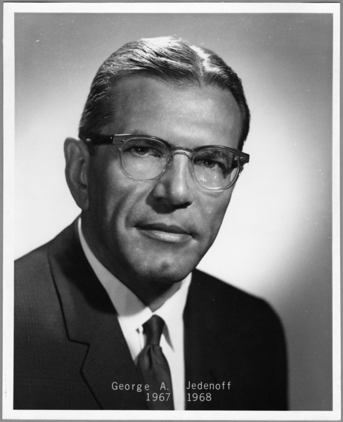Photograph, George A. Jedenoff, Superintendent, 1967-1968