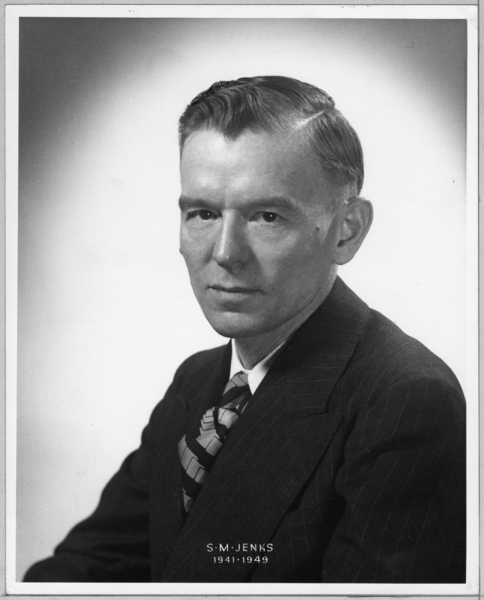 Photograph, S.M. Jenks, Superintendent, 1941-1949