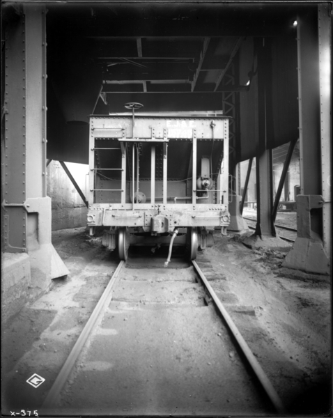 Blast Furnace View Looking North Toward #6 B.F. Dust Catcher, Showing Spout for Directing Flow of Dust into Car