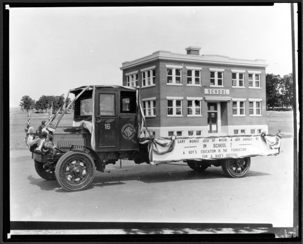 School House on Truck