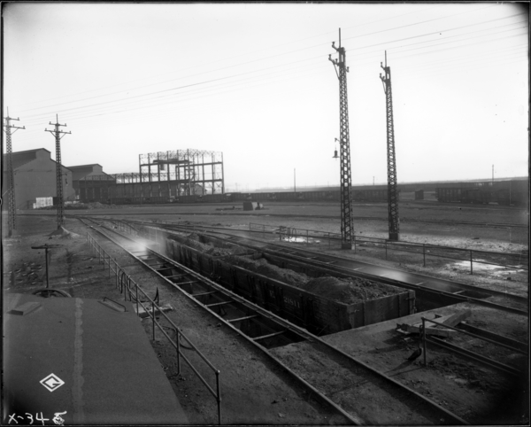 E.J. and E. Cooling Station Yard. View Looking N.E. at Cinder Pit