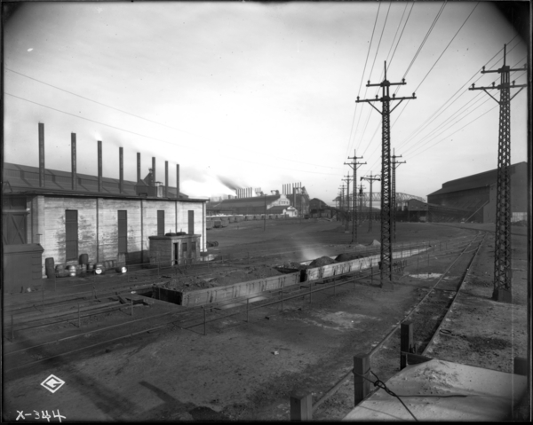 E.J. and E. Coaling Station Yard. View Looking N.W.at Cinder Pit