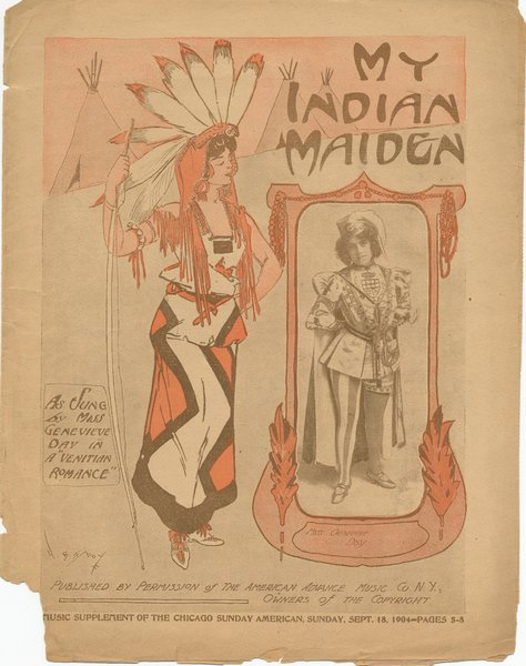 Coleman, Edward, Wilson, Harry H. My Indian maiden. New York: The American Advance Music Co., 1904.: Page 1 of 4