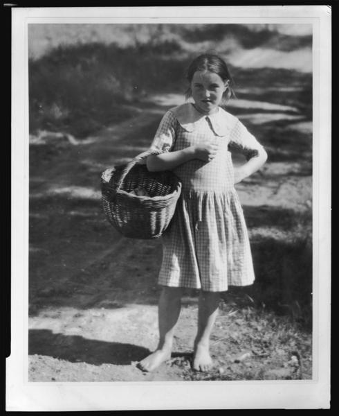Irene Bohall with basket