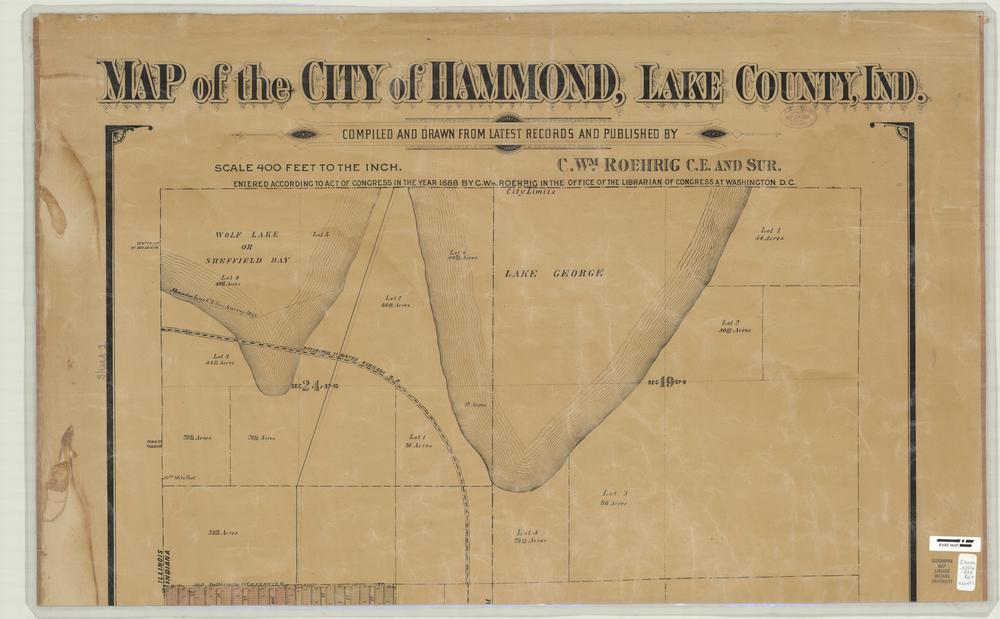 Image Collections Online Map Of The City Of Hammond Lake County