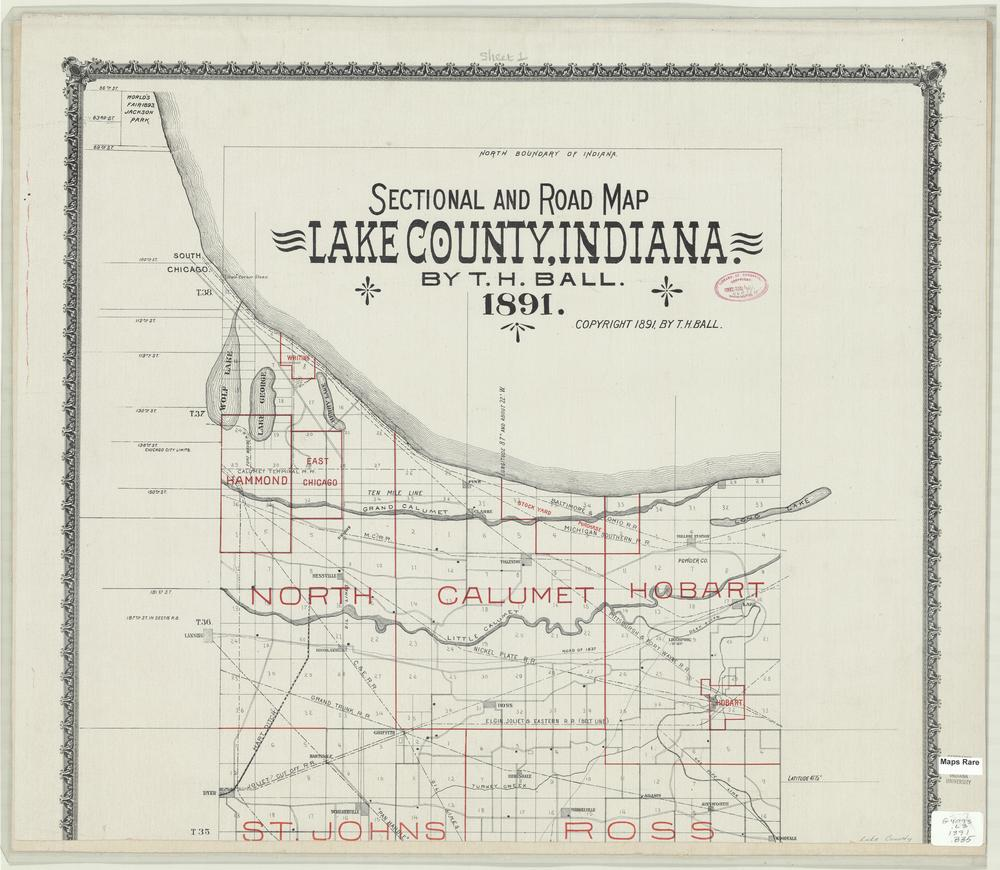 Image Collections Online Sectional And Road Map Lake County