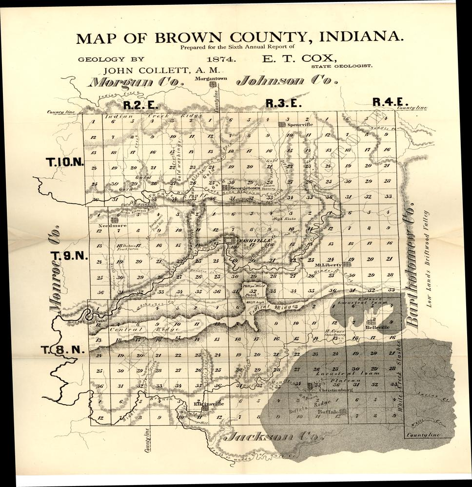 Image Collections Online Map Of Brown County Indiana 1874