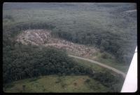 Ariel view - small village north of Monrovia